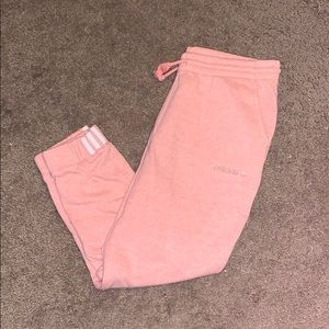 Adidas Cuffed Jogging Pants (Dust Pink)